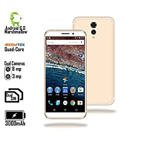 Ultra Slim 4G LTE GSM unlocked Android 6.0 SmartPhone [5.6-inch Display + QuadCore + 8MP Camera]