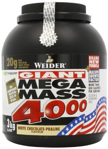 Weider Nutrition Mega Mass 4000 White Chocolate Powder 3000g by Weider by Weider