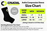Ankle Brace Compression Sleeve for Men & Women (1 Pair) - Best Ankle Support Braces for Pain Relief, Injury Recovery, Swelling, Sprain, Achilles Tendon Support, Heel Spur, Plan