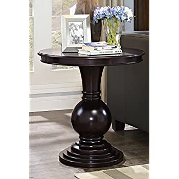 Amazon Com Round Pedestal Table With Marble Veneer Top