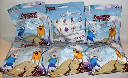 CARTOON NETWORK ADVENTURE TIME MYSTERY FIGURES LOT OF (6) NEW PACKS