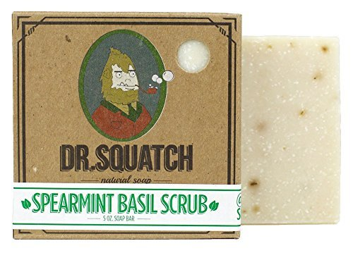 Natural Bar Soap - Spearmint Basil - Minty Fresh Soap for Men with a Naturally Clean Rinse - Handmade in USA by Dr. Squatch