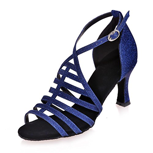 Shoes White Customizable Satin YC Brown With Female Blue Blue Latin Gold Dance Red L Black qtSBOZO