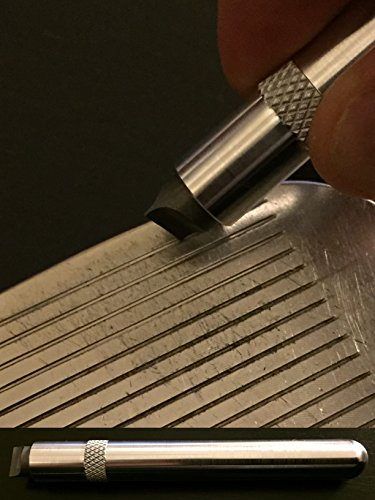 """nU Stria Sharpener """"Premium"""" - Golf Club Groove Sharpener, Re-Grooving Tool and Cleaner for Wedges & Irons - Made in USA"""