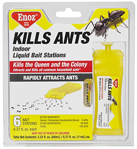 Enoz Kills Ants Liquid Ant Killer - Prefilled Ant Bait Stations (6) by Enoz