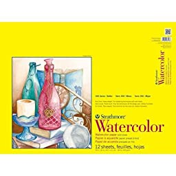Strathmore STR-360-118 12 Sheet Watercolor Taped Pad, 18 by 24\