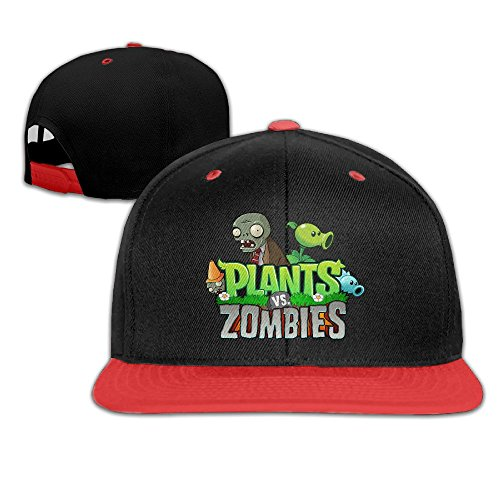 Zombie Plants Costume (WYUZHEN Kid's Cool Plants Vs. Zombies Logo Hip-hop Snapback Hat Caps Red)