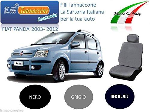 F.LLI IANNACCONE PA-001 Coprisedili Fodera Cotone Blu Grigio Nero 5 Posti