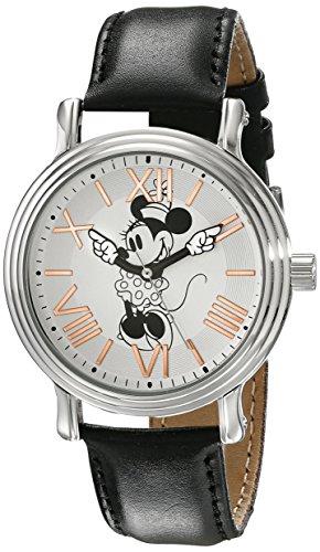 Disney Women's W001858 Minnie Mouse Analog Display Analog Quartz Black Watch