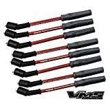 VMS Racing 10.2mm High Performance Engine SPARK PLUG IGNITION WIRES Wire Set in RED for LS2 6.0L V8 GM Engines Chevy Chevrolet Camaro SS Corvette Pontiac GTO SSR Trailblazer Cadillac STS Holden HSV