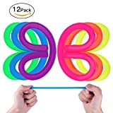 MVS WHOLESALE 12 x Sensory Stretchy String Toy, Reduce Stress and Anxiety for ADHD ADD OCD Autism, Gift for Kid and Adult( Assorted Colours ) Ideal Party Bag Filler