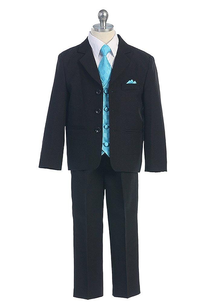 5 Pieces Boy Suit with Vest CA5006