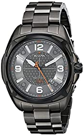 Bulova Men's 98B225 Precisionist Analog Display Japanese Quartz Grey Watch