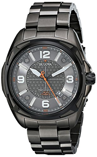 (Bulova Men's 98B225 Precisionist Analog Display Japanese Quartz Grey)