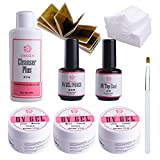 Coscelia Kit Nail Gel Manicure Set UV Gel Varnish Set Topcoat And Base Gel Nail Brush Lacquer Ink Semi Permanent