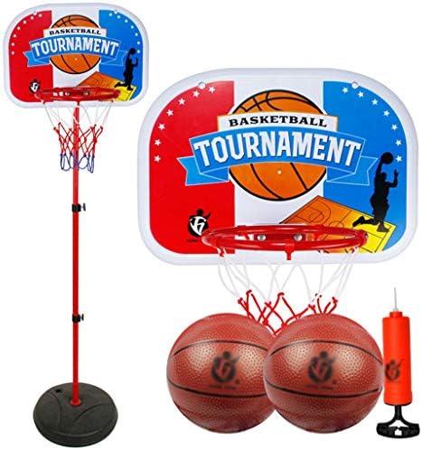 子供のバスケットボールの棚は上昇し、屋内下げ、屋外の赤ちゃんは、バスケットボールのフレームボーイのおもちゃを撮影することができます