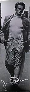 Buyartforless Rare Classic James Dean in NYC by Roy Schatt 36x12 Art Print Poster Wall Decor Black and White Photograph Cigarette White Shirt Walking