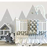 Pam Grace Creations 6 Piece Standard Crib Bedding Set, Grey/Indie Elephant