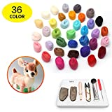 Ds-idols Needle Felting Craft Starter Kit 36 colours 108g Merino Wool Handle, Finger Guards, Plastics Eyes Scissor Awl and Instructions for DIY Arts and Crafts Making
