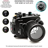 CamDive 130ft/40m Underwater Camera Diving Waterproof Housing Case for A7/A7r/A7s 24-70mm / 28-70mm Lens Camera