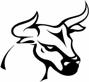 Taurus Bull Vinyl Decal Sticker | Cars Trucks Vans Walls Laptops Cups | Black | 5.5 inches | KCD1018