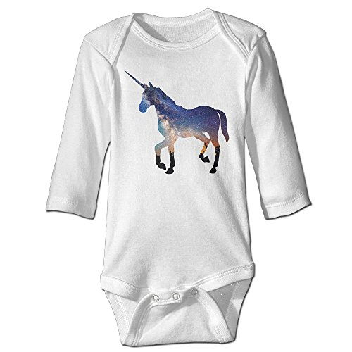 Price comparison product image PTCY Unicorn For 6-24 Months Infant Romper Jumpsuit 18 Months White