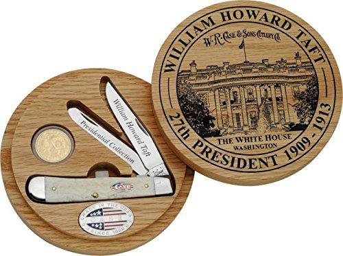 - Case Cutlery CA09696 William Howard TAFT Trapper 27th President Commemorative Trapper Hunting Knives