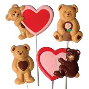 Make N' Mold 3077 Dress My Cupcake Bear and Heart Lollipop Candy Mold