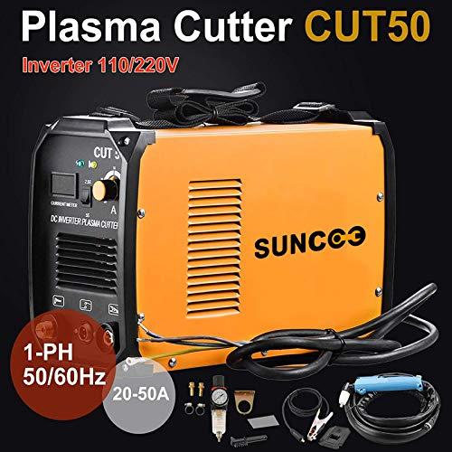 SUNCOO Cut 50 Plasma Cutter Electric DC Inverter Cutting Machine with Digital Display Dual Voltage 110/220V, 1/2'' Clean Cut by SUNCOO (Image #3)