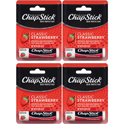 ChapStick Lip Balm Strawberry 0.15 oz (Pack of 4)