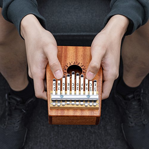 Donner 10 Key Kalimba Thumb Piano Solid Finger Piano Mahogany Body DKL-10 by Donner (Image #6)