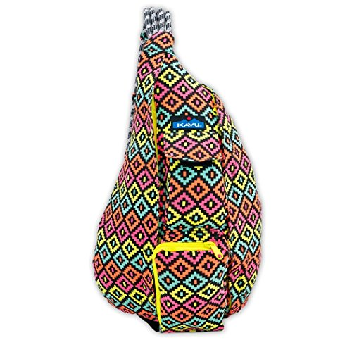 Kavu Rope Bag, Neon Montage, One Size