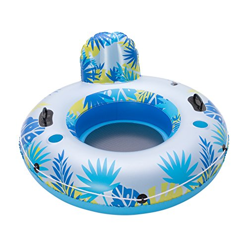 Big Sky Inflatable Pool Floats with Cup Holders - Personal Water Float with Drink Holder - Floating Inner Tubes for Lake or Beach - Single Person, Blow-Up Tube - Durable Raft for Relaxation -  WSP200_057G
