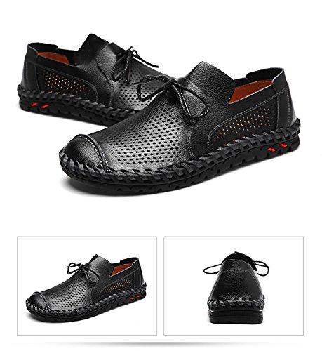 Chaussures Noires Avec Nez Ronds 12 Avec L'entrée Pour Les Hommes Jp4B9pcmDp