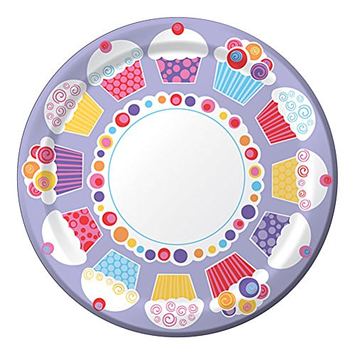 Cupcake Hearts Valentine's Day Dinner Plates, 8ct