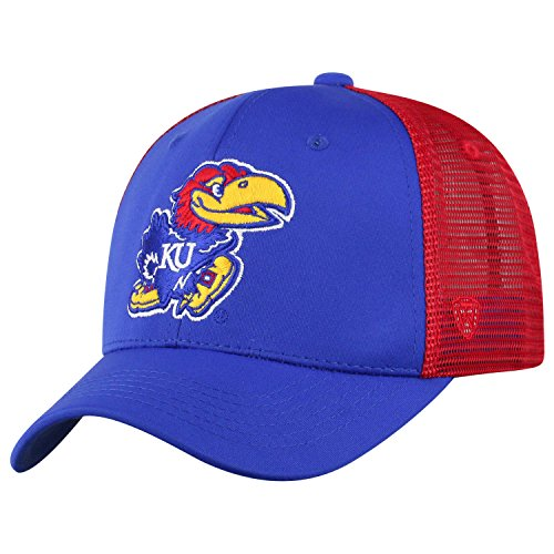 - Top of the World NCAA-Ranger Trucker Mesh-Adjustable Snapback Hat Cap (Kansas Jayhawks, Adjustable)