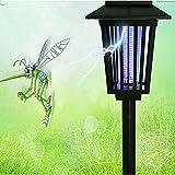 Led Solar Bug Zapper Lights Garden Decoration Outdoor Pest Repellent Light Mosquito Killer Lamp Uv Light+ White Led - GardenLantern Landscape Yard Pathway Camping Light