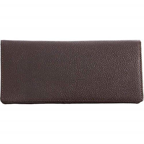(EmbassyTM Chocolate Brown Solid Genuine Lambskin Leather)