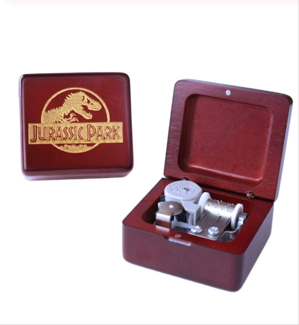 Music Box Handmade Wooden Jurassic Park Music Box Birthday Gift For Christmas,Birthday,Custom Engraved Personalized Gift