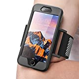 iPhone 8 Armband, SUPCASE Easy Fitting Sport Running Armband Case with Premium Flexible Case Combo for Apple iPhone 7 2016 / iPhone 8 2017 (Black)