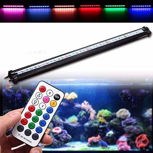 Trihedral-X 45CM RGB SMD5050 Rigid LED Strip Light Air Bubble Aquarium Fish Tank Lamp + Remote Control AC220V