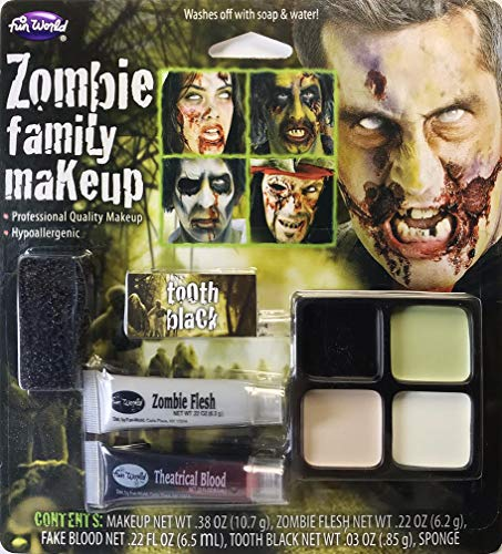 Fun World Unisex-Adult's Zombie Family Makeup Accessory