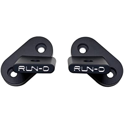 RUN-D A-Pillar Light Mount Jeep Windshield Light Brackets for Wrangler JK - pair: Automotive