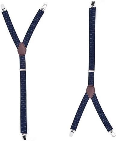 Zonfer 1 Par De Hombres De Camisa En Forma De Y Tirantes Regulables Estancias Camisa Elástica De Larga Duración Que Mantiene Camisas Fajadas (azul Marino): Amazon.es: Ropa y accesorios