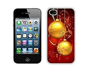 iPhone 6 plus 5.5 Case,Christmas Golden Jingling Bell Durability Apple iPhone 6 plus 5.5 Silicone White Case