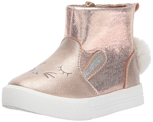 Oshkosh B'Gosh  Girls' Philty Mid Top Sneaker, Rose, 7 M US Toddler (Girls Boot Sneakers)