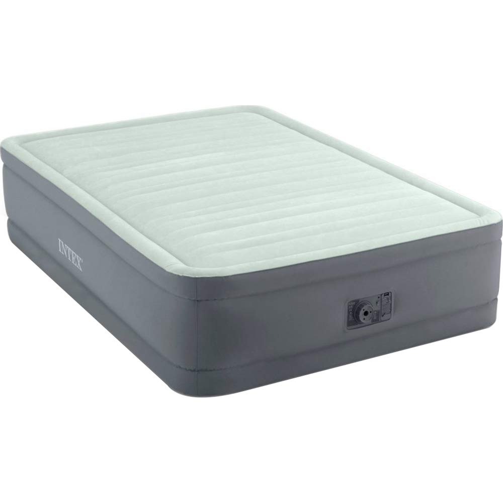 Intex 18in Full Dura-Beam PremAire Elevated Airbed with Built-in Electric Pump Gray