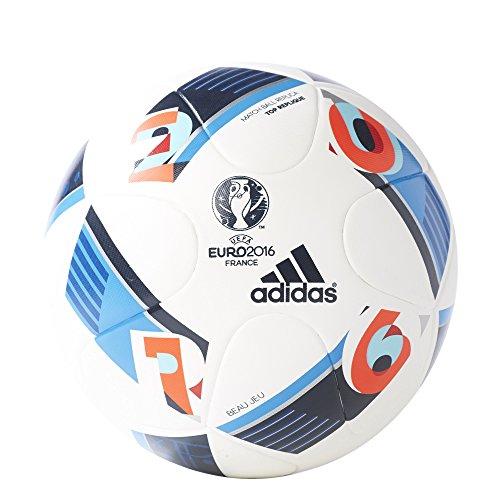 adidas Performance Euro 16 Top Replique Soccer Ball, White/Bright Blue/Night Indigo, 5