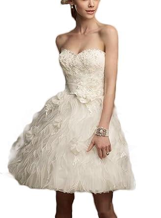 PROMLINK Lace Sweetheart Prom Wedding Dress Short Beaded Evening ...