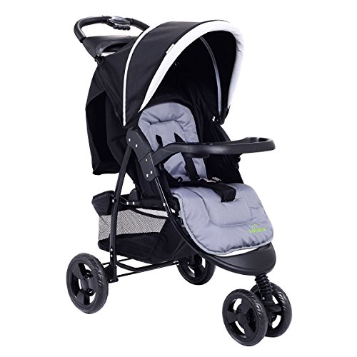 Costzon Infant Stroller 3 Wheel Baby Toddler Pushchair Travel Jogger w/Storage Basket